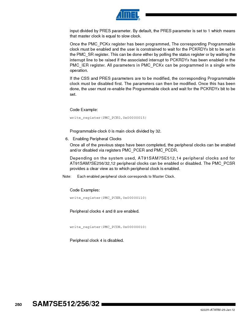 AT91SAM7SE256B-CUR ,Atmel厂商,IC ARM7 MCU FLASH 256K 128-LQFP, AT91SAM7SE256B-CUR datasheet预览  第280页