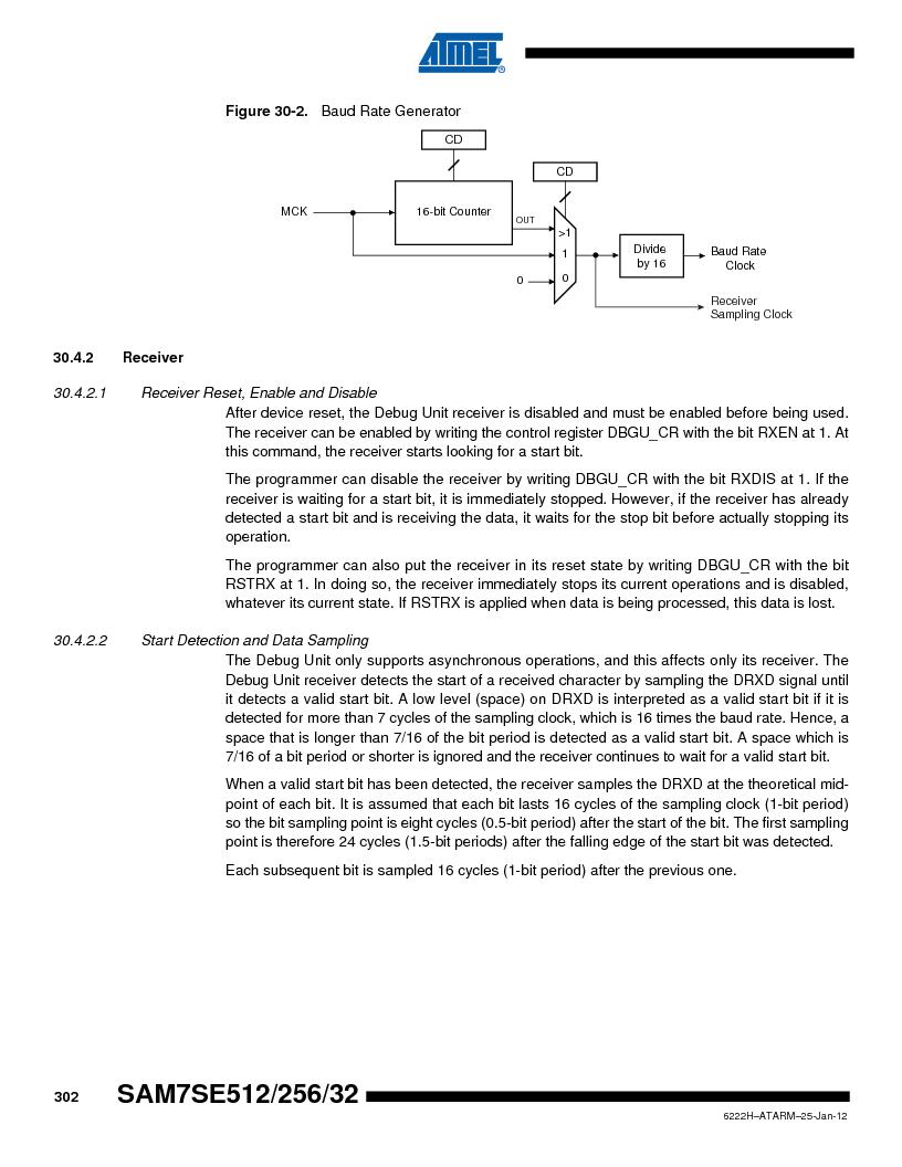 AT91SAM7SE256B-CUR ,Atmel厂商,IC ARM7 MCU FLASH 256K 128-LQFP, AT91SAM7SE256B-CUR datasheet预览  第302页