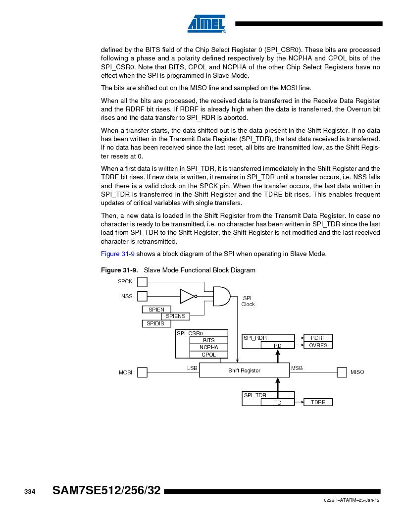AT91SAM7SE256B-CUR ,Atmel厂商,IC ARM7 MCU FLASH 256K 128-LQFP, AT91SAM7SE256B-CUR datasheet预览  第334页