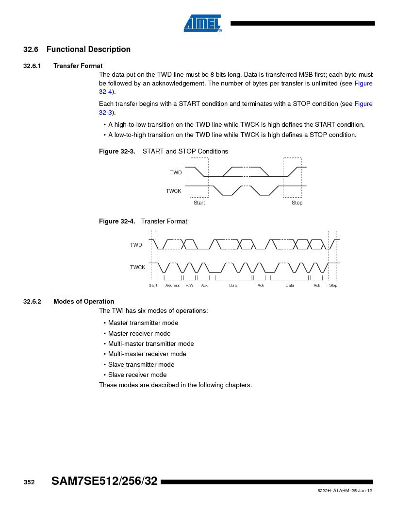 AT91SAM7SE256B-CUR ,Atmel厂商,IC ARM7 MCU FLASH 256K 128-LQFP, AT91SAM7SE256B-CUR datasheet预览  第352页