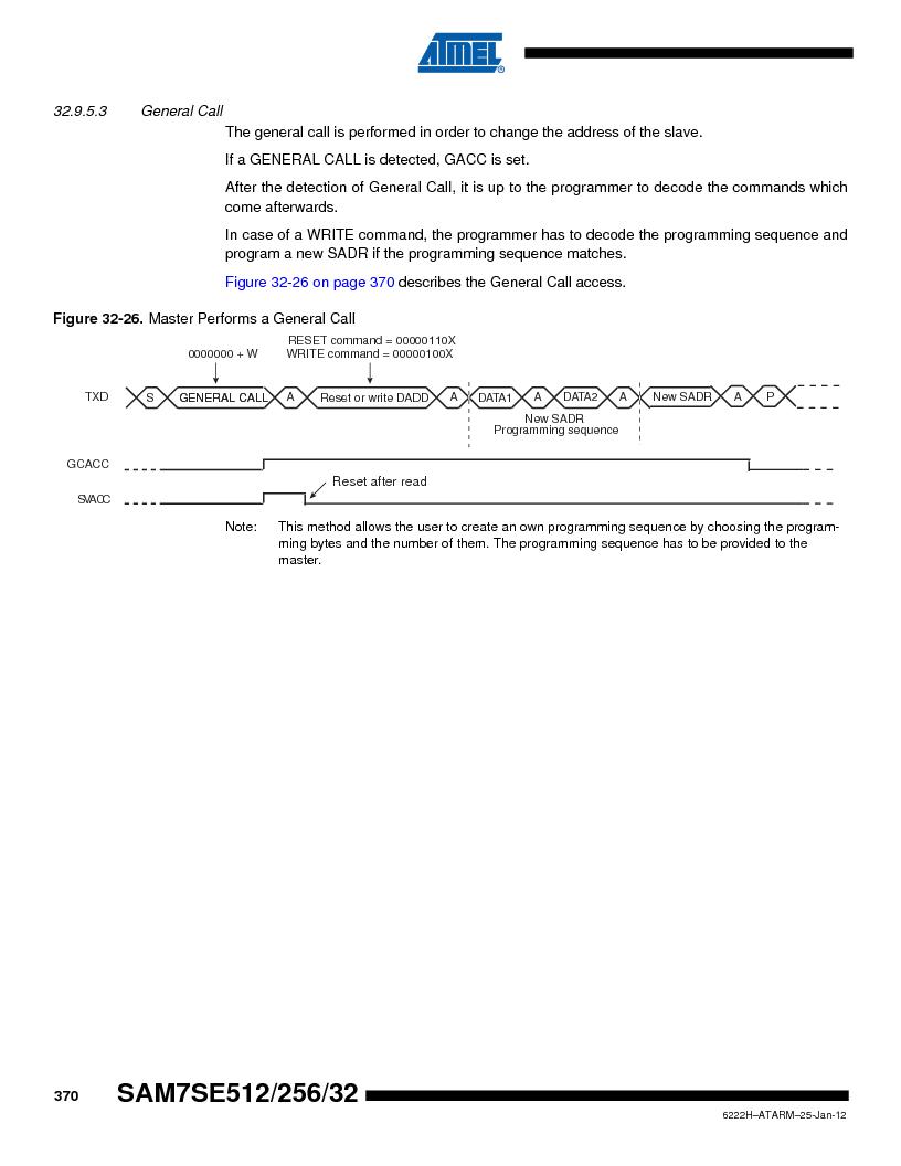 AT91SAM7SE256B-CUR ,Atmel厂商,IC ARM7 MCU FLASH 256K 128-LQFP, AT91SAM7SE256B-CUR datasheet预览  第370页