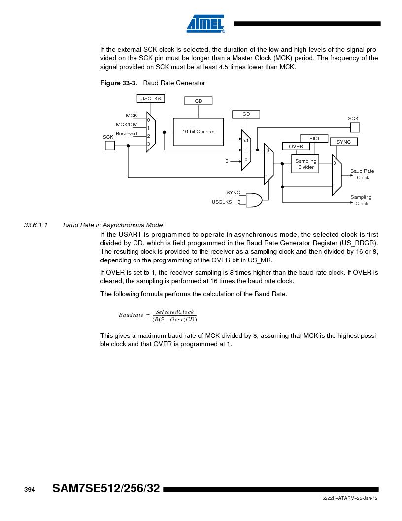 AT91SAM7SE256B-CUR ,Atmel厂商,IC ARM7 MCU FLASH 256K 128-LQFP, AT91SAM7SE256B-CUR datasheet预览  第394页