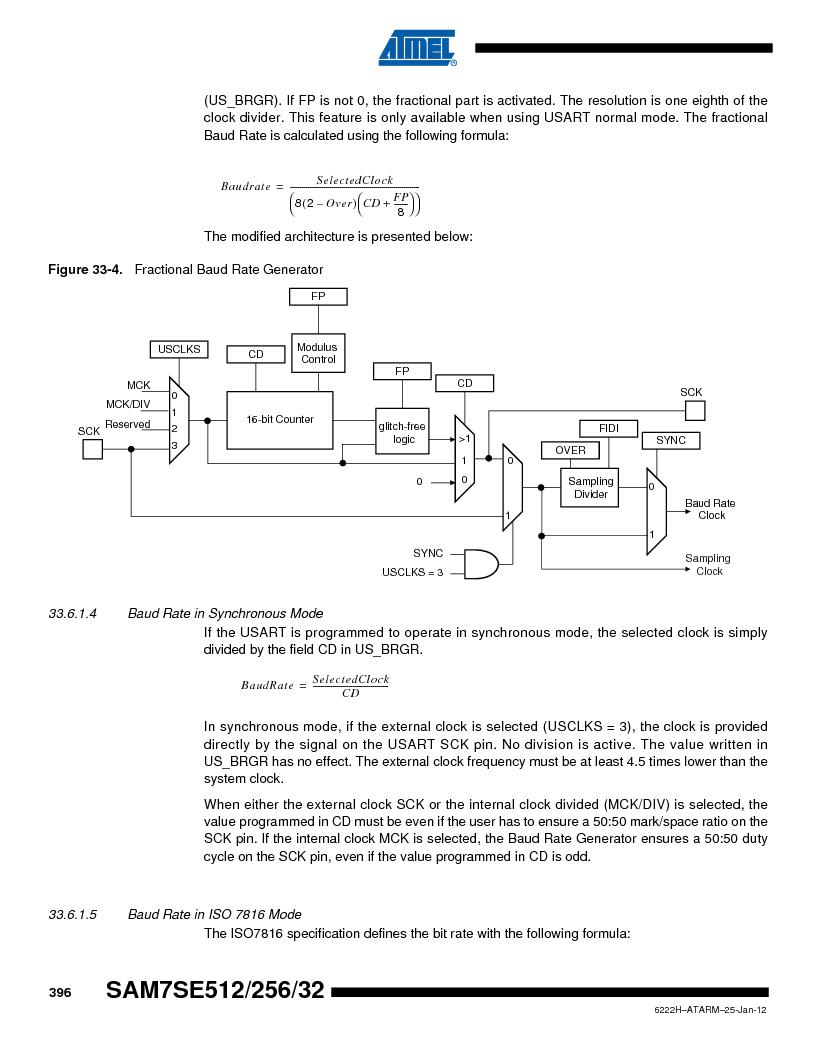 AT91SAM7SE256B-CUR ,Atmel厂商,IC ARM7 MCU FLASH 256K 128-LQFP, AT91SAM7SE256B-CUR datasheet预览  第396页