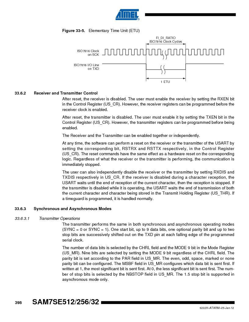 AT91SAM7SE256B-CUR ,Atmel厂商,IC ARM7 MCU FLASH 256K 128-LQFP, AT91SAM7SE256B-CUR datasheet预览  第398页