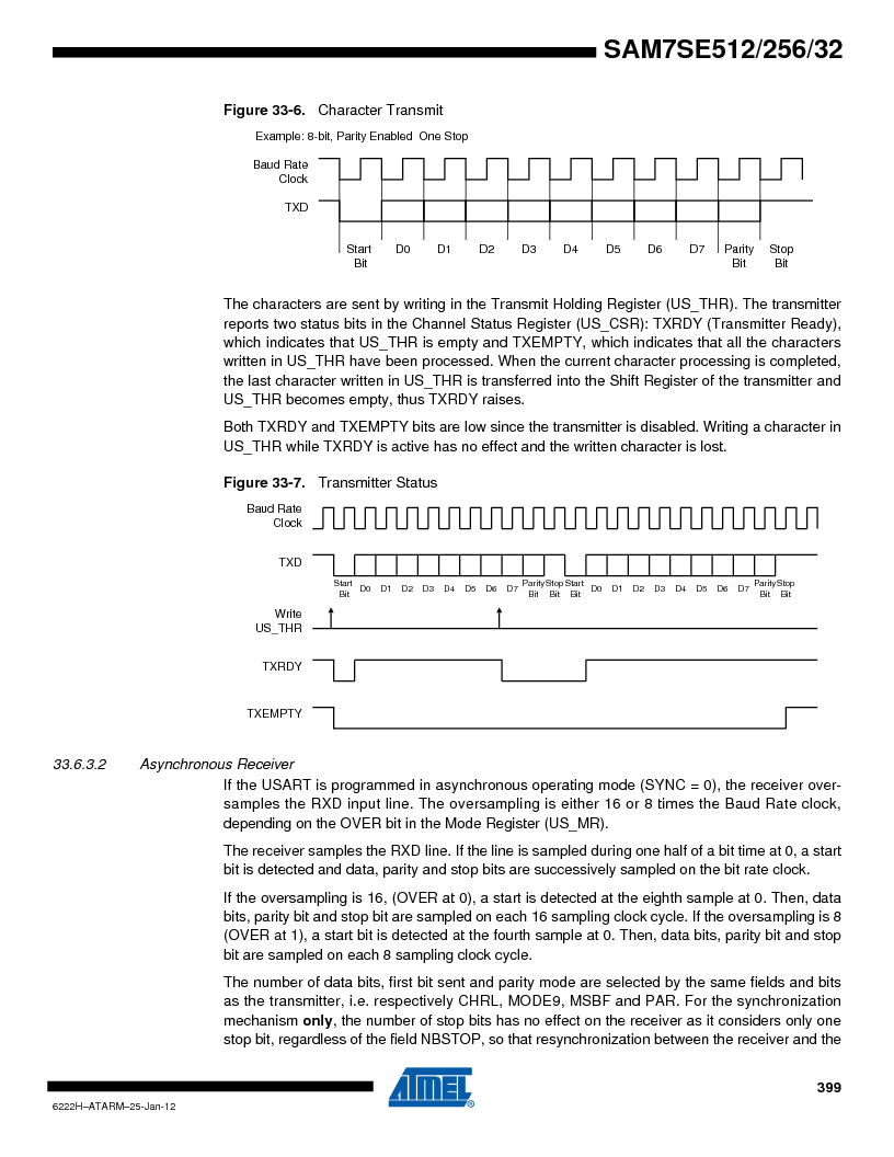 AT91SAM7SE256B-CUR ,Atmel厂商,IC ARM7 MCU FLASH 256K 128-LQFP, AT91SAM7SE256B-CUR datasheet预览  第399页