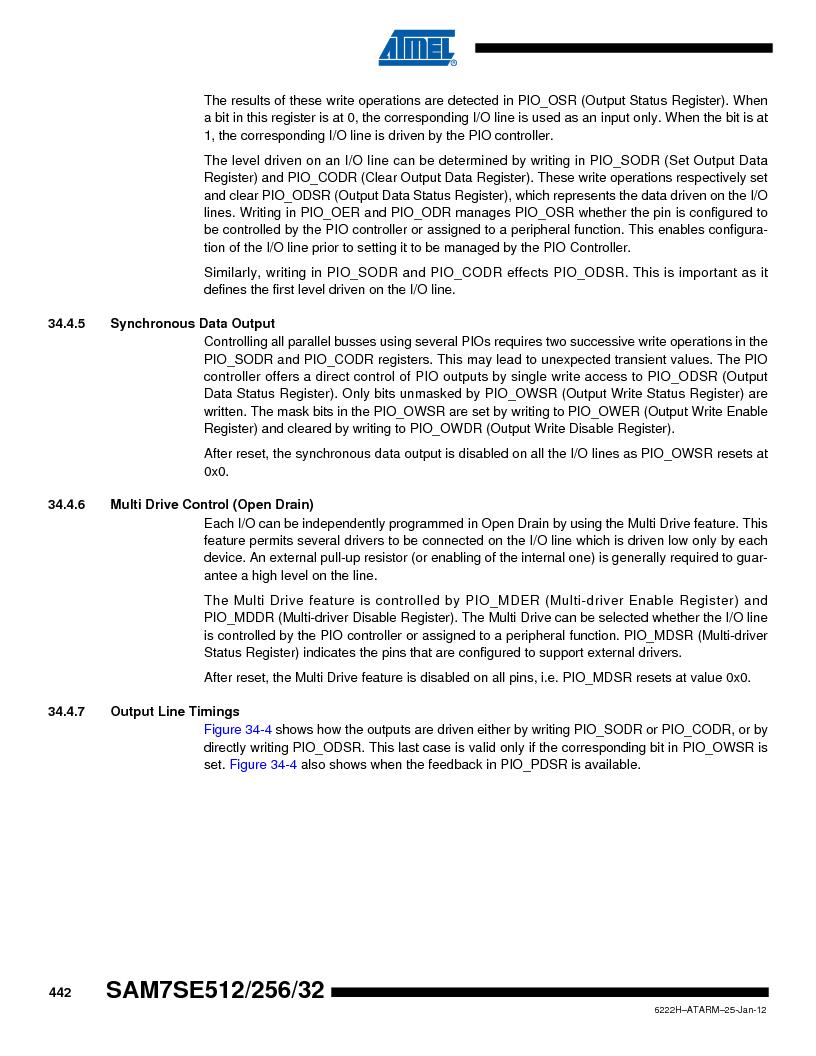 AT91SAM7SE256B-CUR ,Atmel厂商,IC ARM7 MCU FLASH 256K 128-LQFP, AT91SAM7SE256B-CUR datasheet预览  第442页
