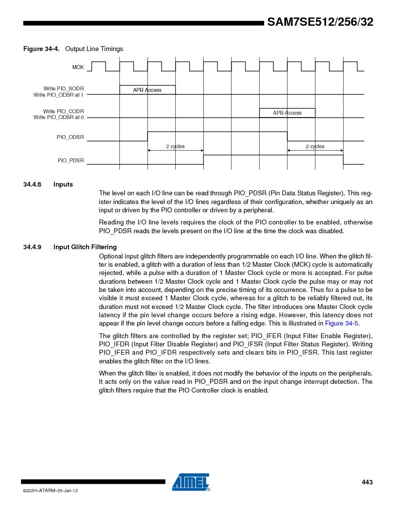 AT91SAM7SE256B-CUR ,Atmel厂商,IC ARM7 MCU FLASH 256K 128-LQFP, AT91SAM7SE256B-CUR datasheet预览  第443页