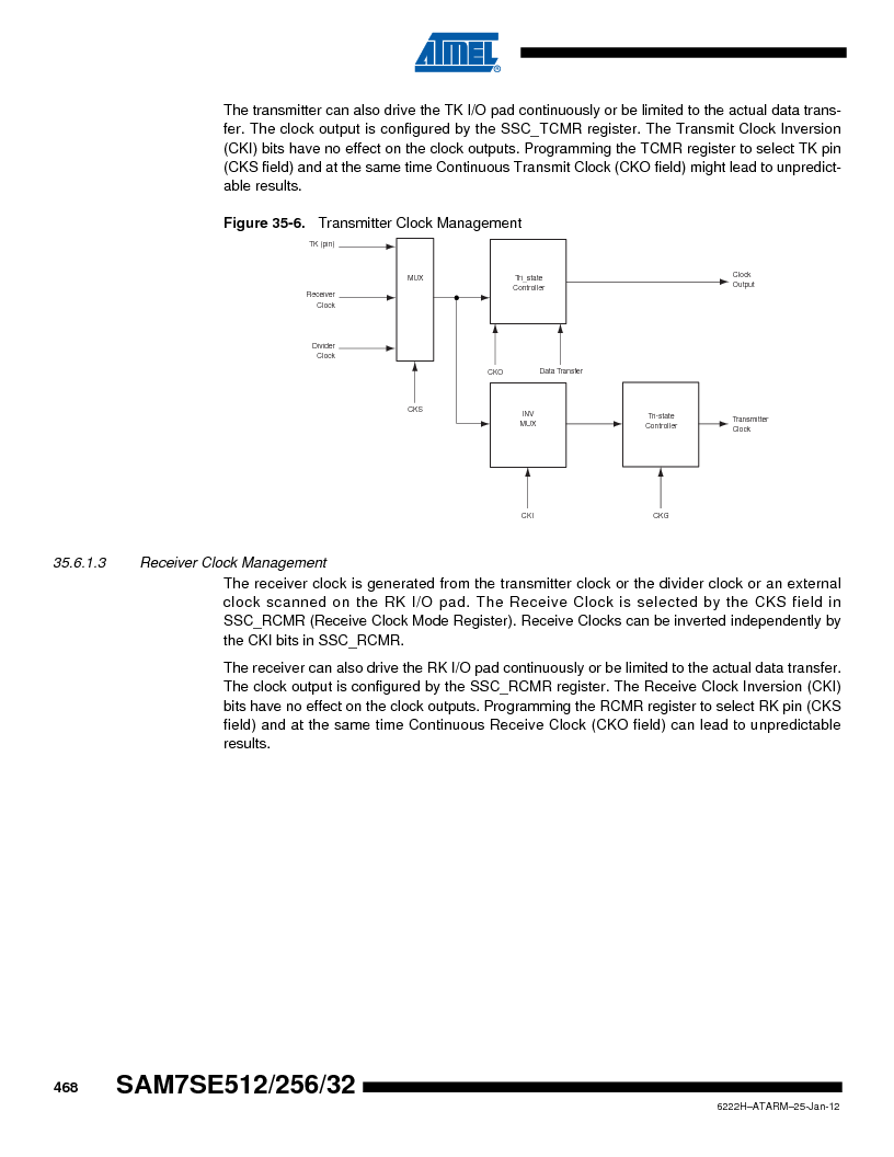 AT91SAM7SE256B-CUR ,Atmel厂商,IC ARM7 MCU FLASH 256K 128-LQFP, AT91SAM7SE256B-CUR datasheet预览  第468页