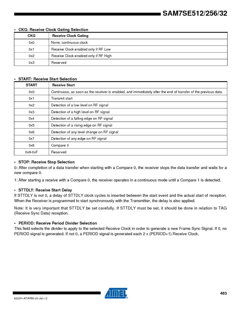 AT91SAM7SE256B-CUR ,Atmel厂商,IC ARM7 MCU FLASH 256K 128-LQFP, AT91SAM7SE256B-CUR datasheet预览  第483页