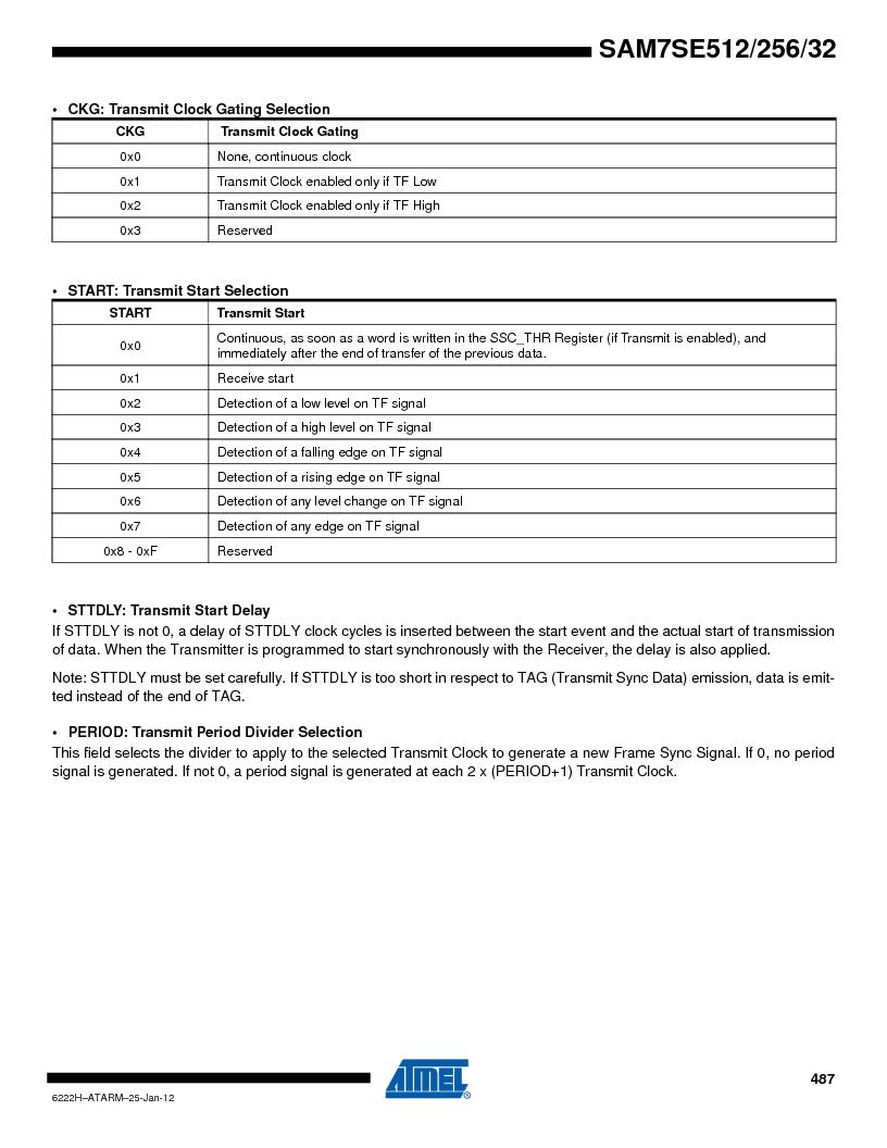 AT91SAM7SE256B-CUR ,Atmel厂商,IC ARM7 MCU FLASH 256K 128-LQFP, AT91SAM7SE256B-CUR datasheet预览  第487页