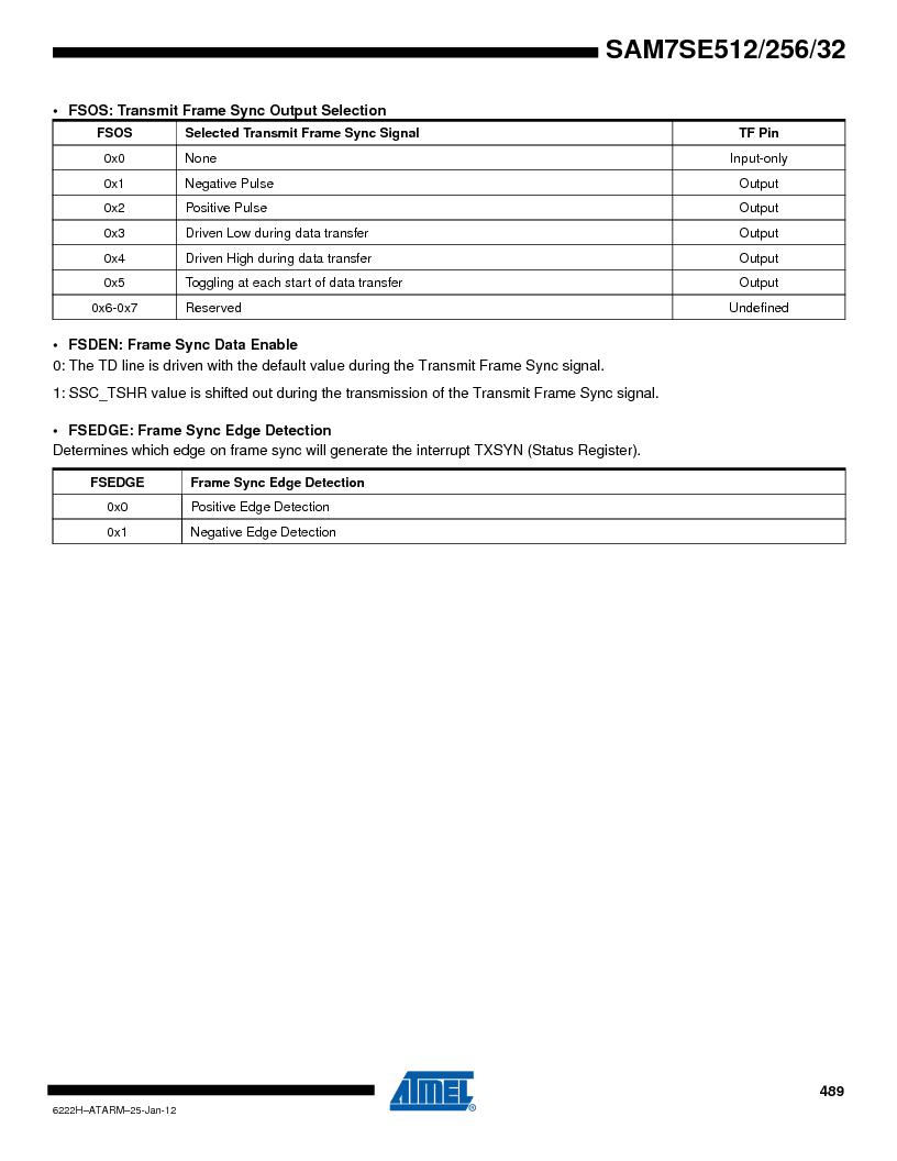 AT91SAM7SE256B-CUR ,Atmel厂商,IC ARM7 MCU FLASH 256K 128-LQFP, AT91SAM7SE256B-CUR datasheet预览  第489页