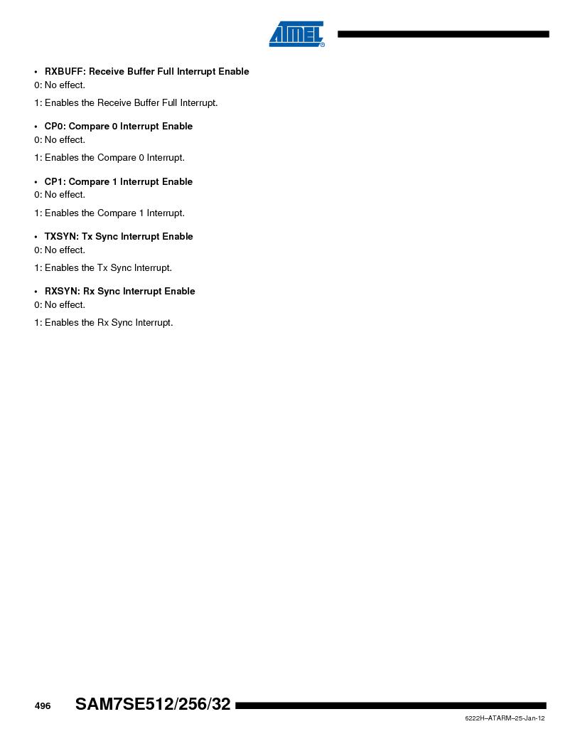 AT91SAM7SE256B-CUR ,Atmel厂商,IC ARM7 MCU FLASH 256K 128-LQFP, AT91SAM7SE256B-CUR datasheet预览  第496页