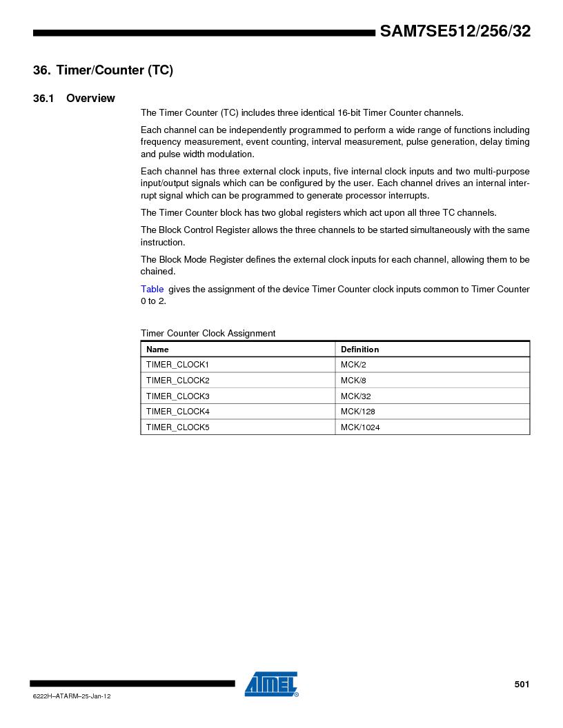 AT91SAM7SE256B-CUR ,Atmel厂商,IC ARM7 MCU FLASH 256K 128-LQFP, AT91SAM7SE256B-CUR datasheet预览  第501页