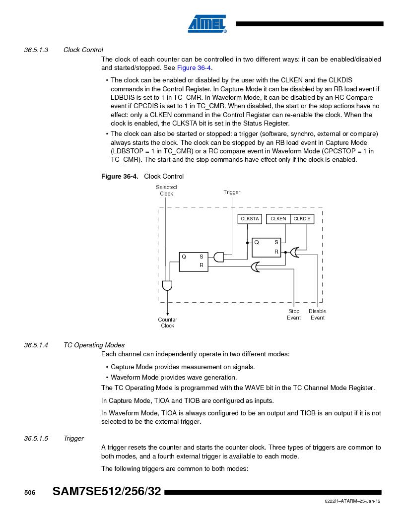 AT91SAM7SE256B-CUR ,Atmel厂商,IC ARM7 MCU FLASH 256K 128-LQFP, AT91SAM7SE256B-CUR datasheet预览  第506页