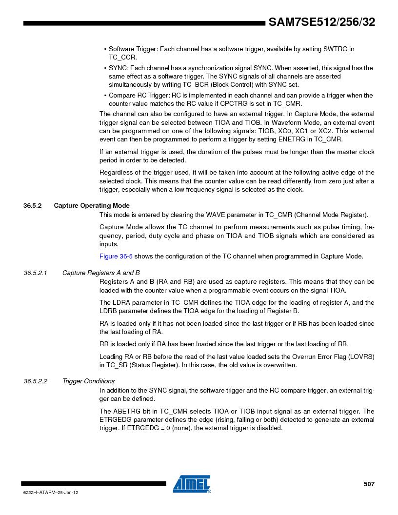 AT91SAM7SE256B-CUR ,Atmel厂商,IC ARM7 MCU FLASH 256K 128-LQFP, AT91SAM7SE256B-CUR datasheet预览  第507页