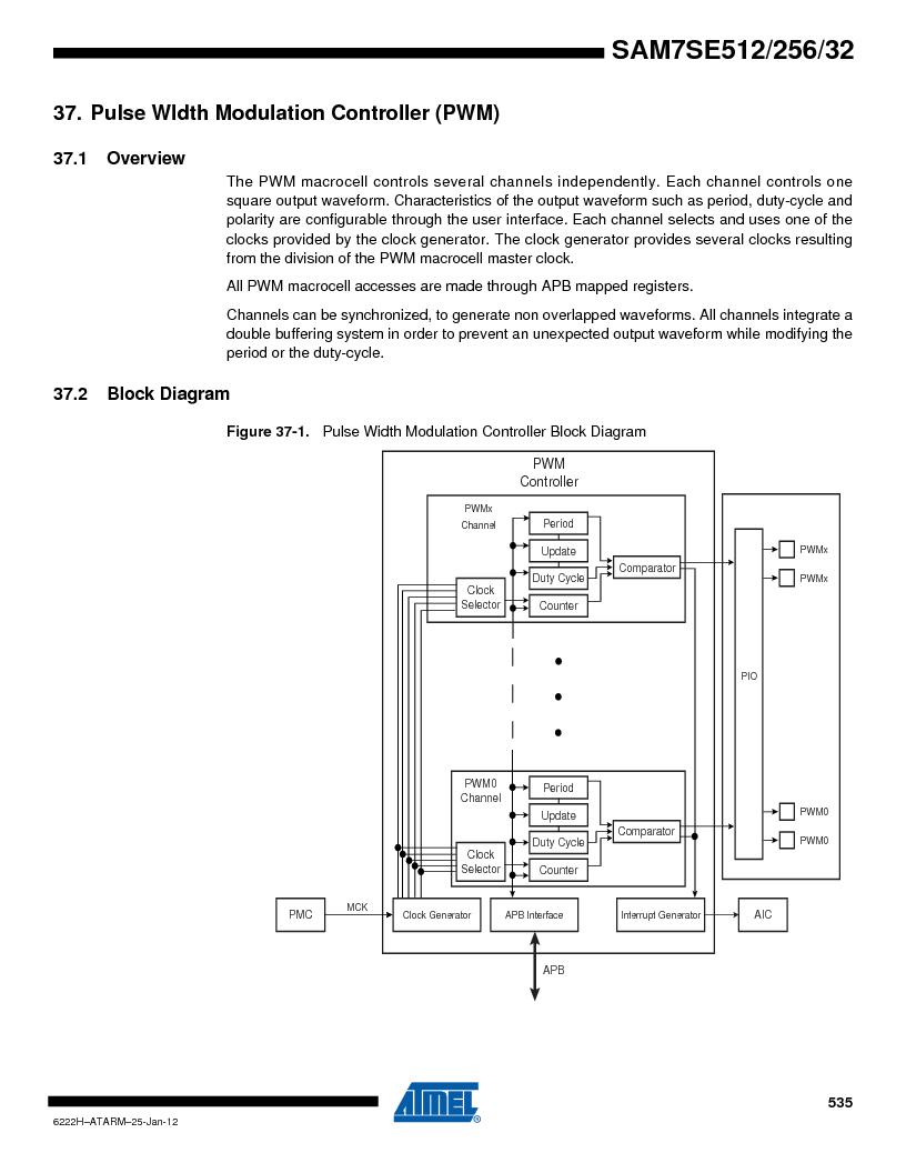 AT91SAM7SE256B-CUR ,Atmel厂商,IC ARM7 MCU FLASH 256K 128-LQFP, AT91SAM7SE256B-CUR datasheet预览  第535页