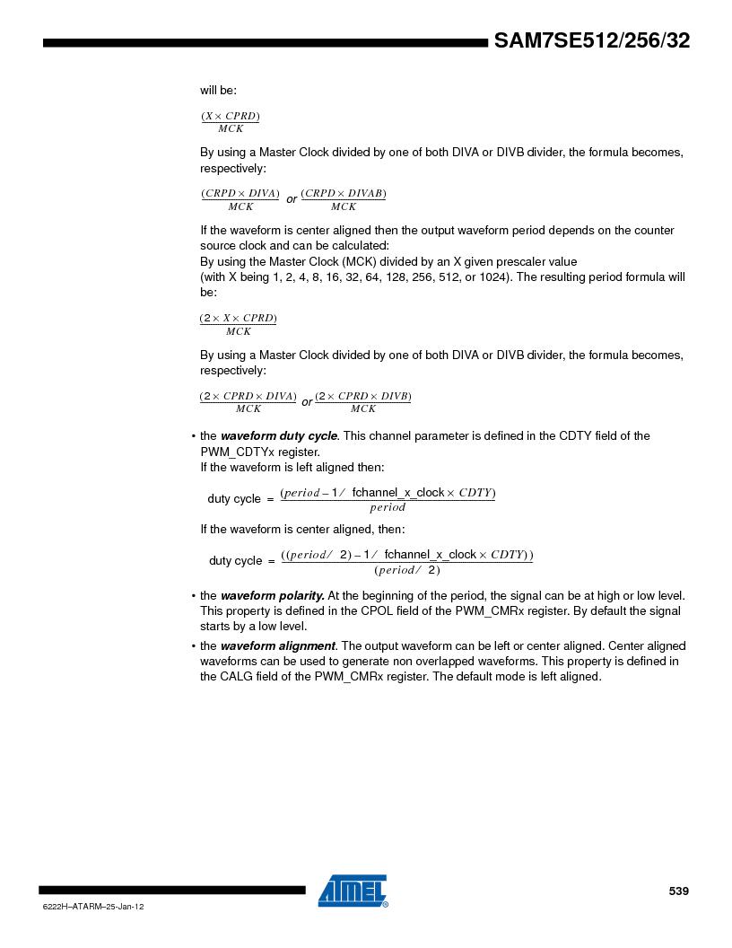 AT91SAM7SE256B-CUR ,Atmel厂商,IC ARM7 MCU FLASH 256K 128-LQFP, AT91SAM7SE256B-CUR datasheet预览  第539页