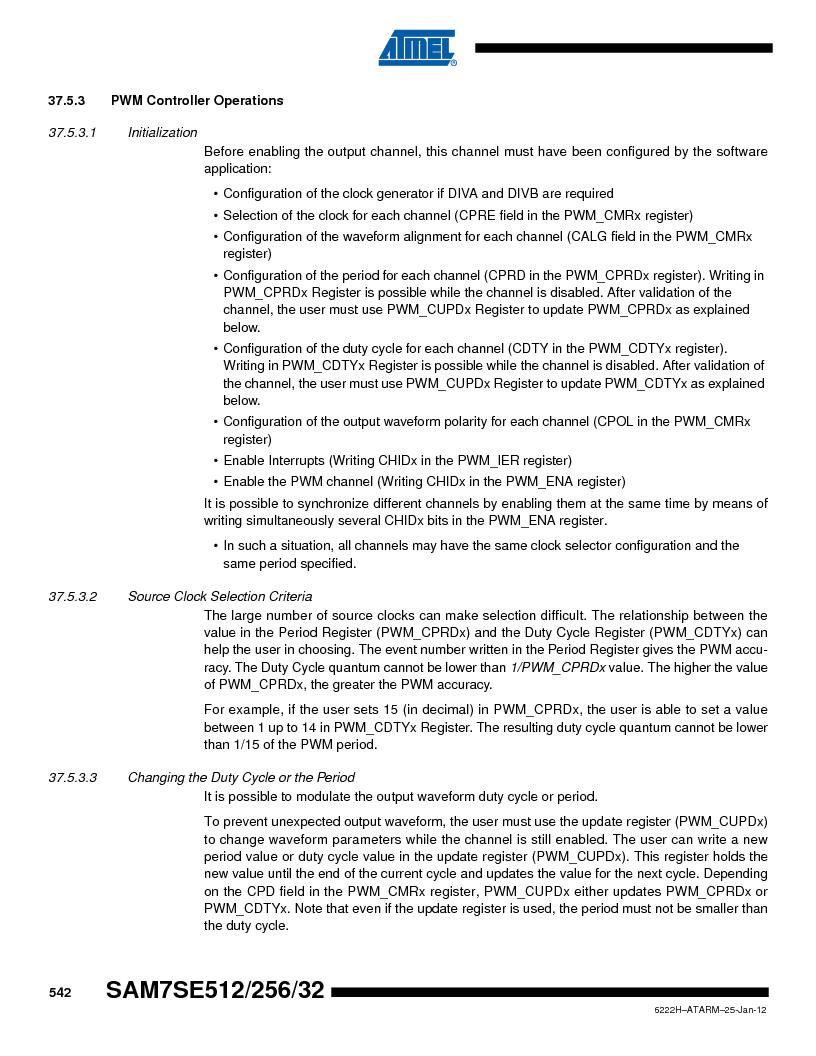 AT91SAM7SE256B-CUR ,Atmel厂商,IC ARM7 MCU FLASH 256K 128-LQFP, AT91SAM7SE256B-CUR datasheet预览  第542页