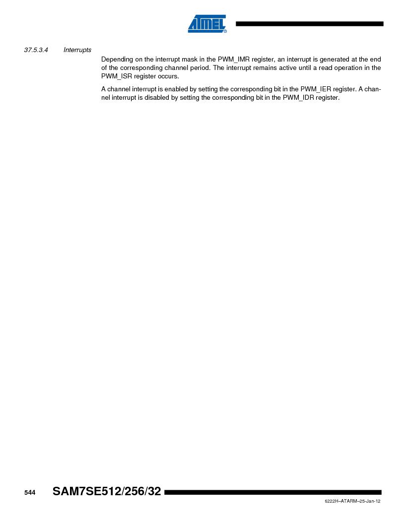 AT91SAM7SE256B-CUR ,Atmel厂商,IC ARM7 MCU FLASH 256K 128-LQFP, AT91SAM7SE256B-CUR datasheet预览  第544页