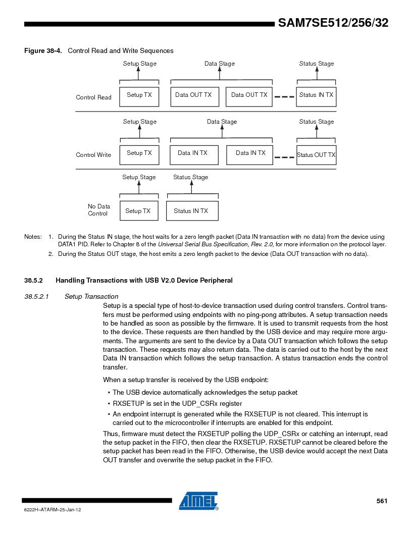 AT91SAM7SE256B-CUR ,Atmel厂商,IC ARM7 MCU FLASH 256K 128-LQFP, AT91SAM7SE256B-CUR datasheet预览  第561页