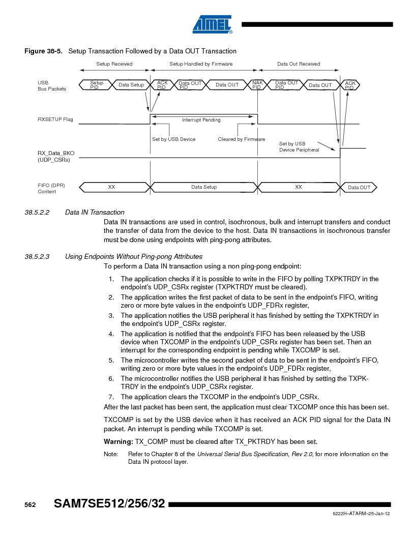 AT91SAM7SE256B-CUR ,Atmel厂商,IC ARM7 MCU FLASH 256K 128-LQFP, AT91SAM7SE256B-CUR datasheet预览  第562页