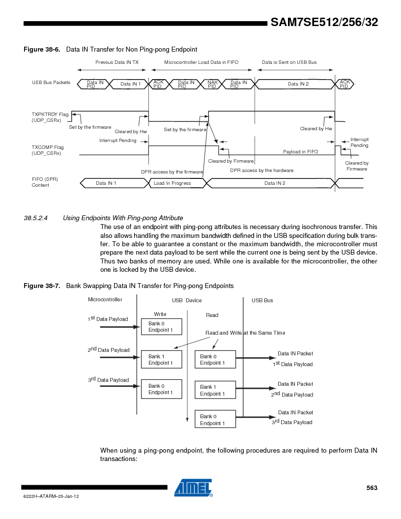 AT91SAM7SE256B-CUR ,Atmel厂商,IC ARM7 MCU FLASH 256K 128-LQFP, AT91SAM7SE256B-CUR datasheet预览  第563页