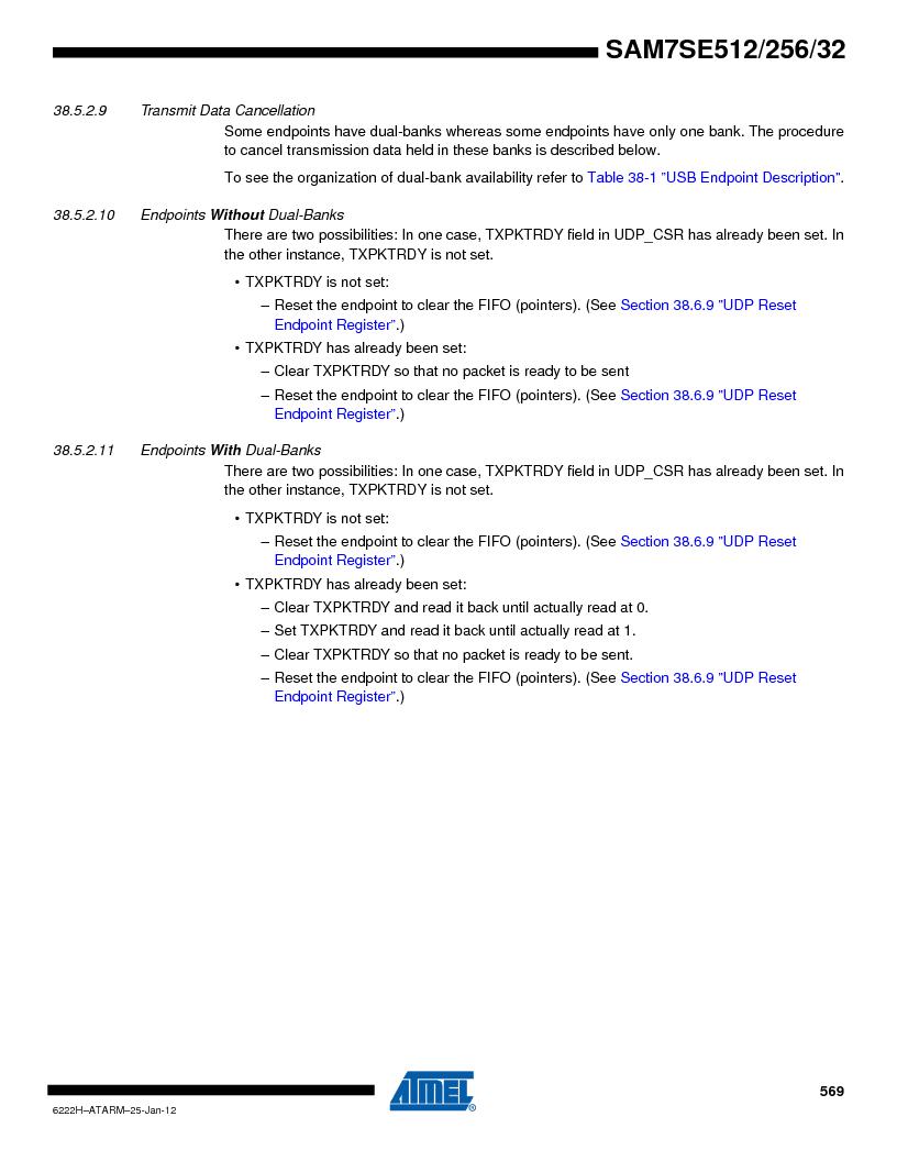 AT91SAM7SE256B-CUR ,Atmel厂商,IC ARM7 MCU FLASH 256K 128-LQFP, AT91SAM7SE256B-CUR datasheet预览  第569页