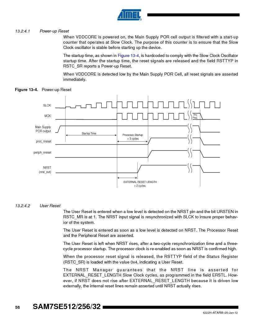 AT91SAM7SE256B-CUR ,Atmel厂商,IC ARM7 MCU FLASH 256K 128-LQFP, AT91SAM7SE256B-CUR datasheet预览  第58页