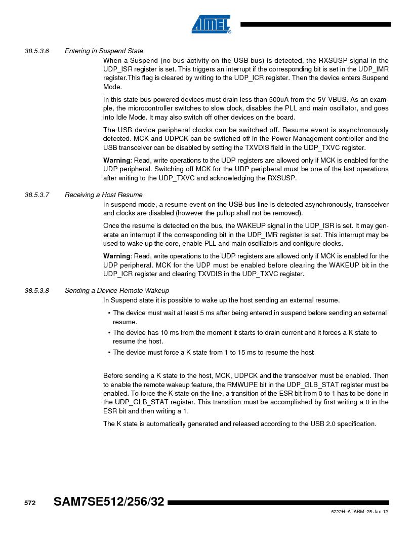 AT91SAM7SE256B-CUR ,Atmel厂商,IC ARM7 MCU FLASH 256K 128-LQFP, AT91SAM7SE256B-CUR datasheet预览  第572页