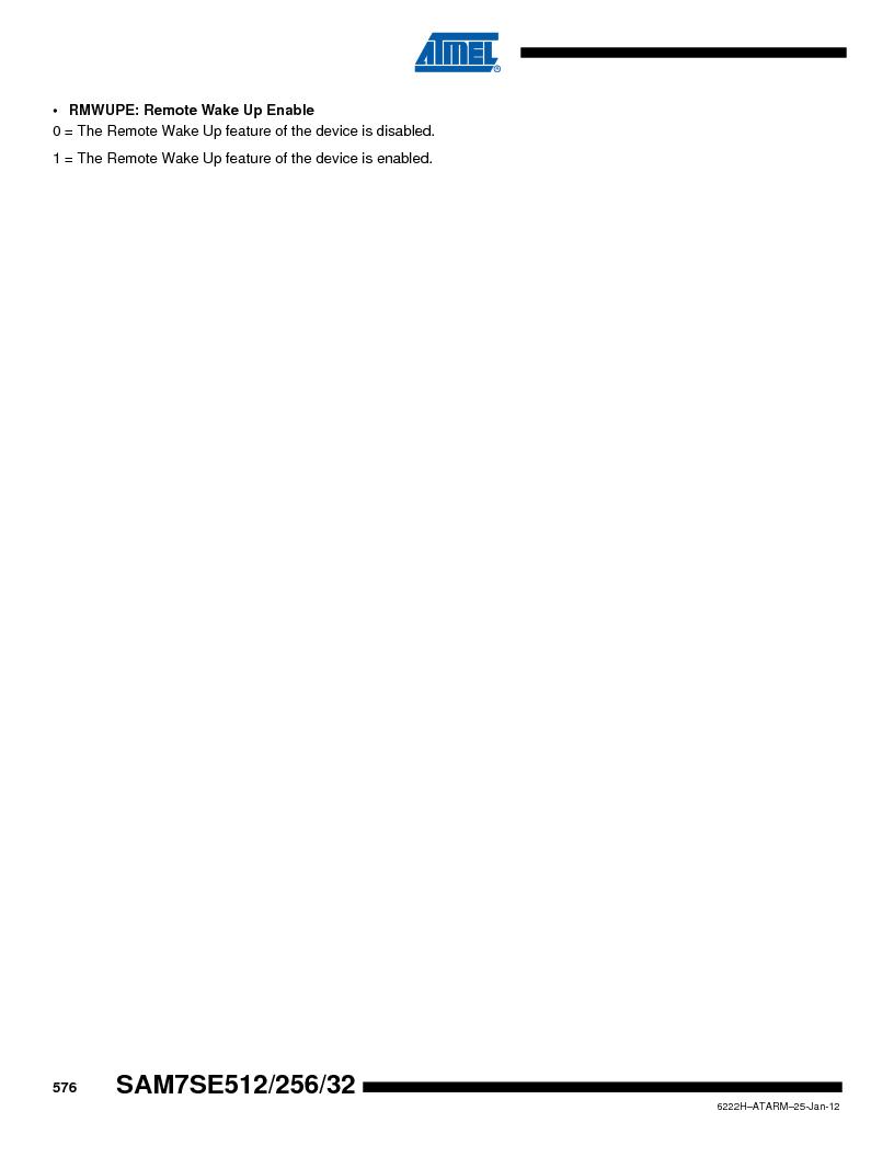 AT91SAM7SE256B-CUR ,Atmel厂商,IC ARM7 MCU FLASH 256K 128-LQFP, AT91SAM7SE256B-CUR datasheet预览  第576页