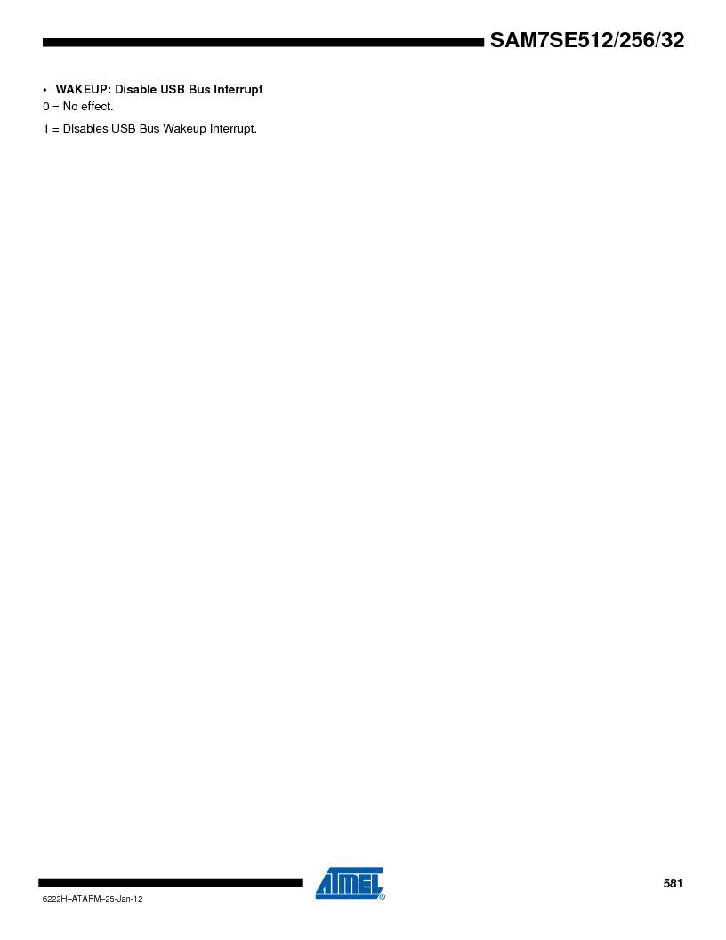 AT91SAM7SE256B-CUR ,Atmel厂商,IC ARM7 MCU FLASH 256K 128-LQFP, AT91SAM7SE256B-CUR datasheet预览  第581页