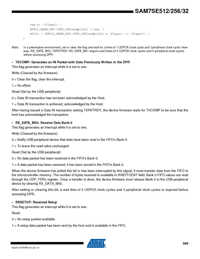 AT91SAM7SE256B-CUR ,Atmel厂商,IC ARM7 MCU FLASH 256K 128-LQFP, AT91SAM7SE256B-CUR datasheet预览  第589页