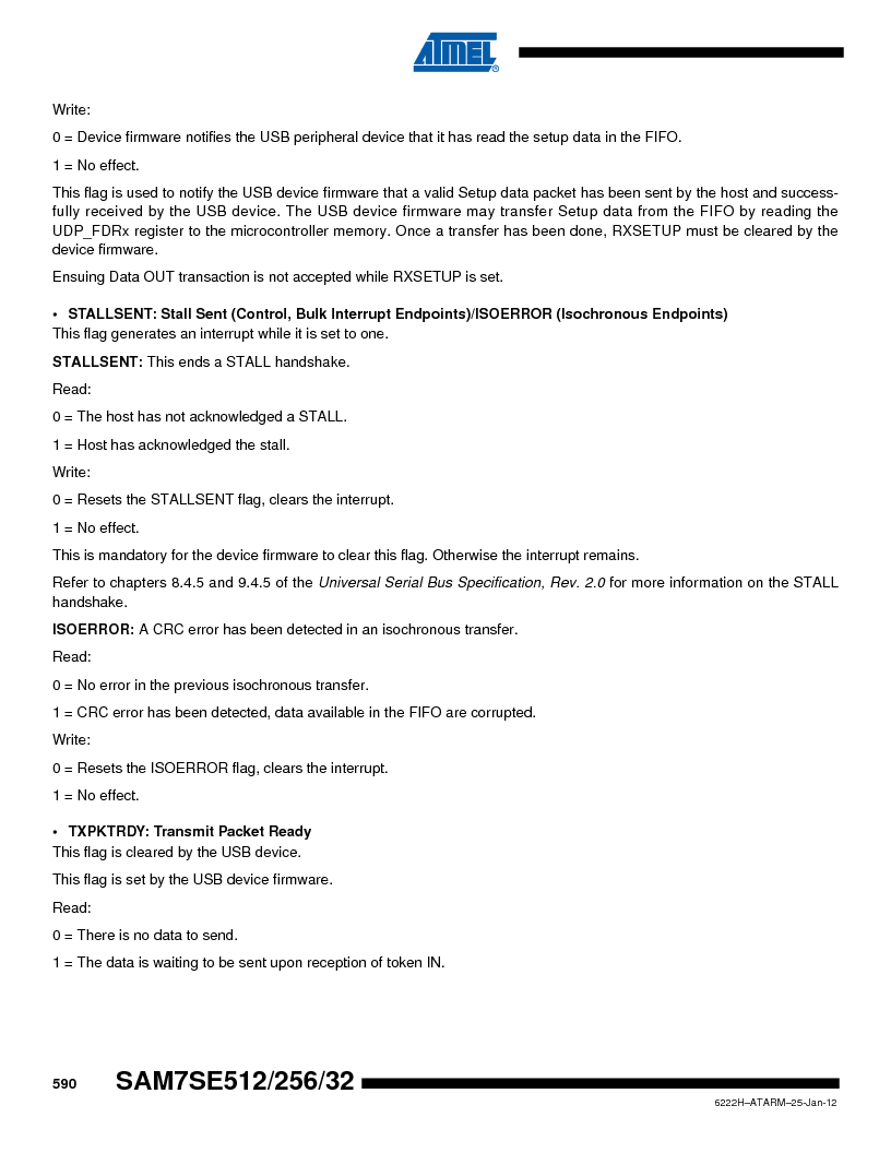 AT91SAM7SE256B-CUR ,Atmel厂商,IC ARM7 MCU FLASH 256K 128-LQFP, AT91SAM7SE256B-CUR datasheet预览  第590页