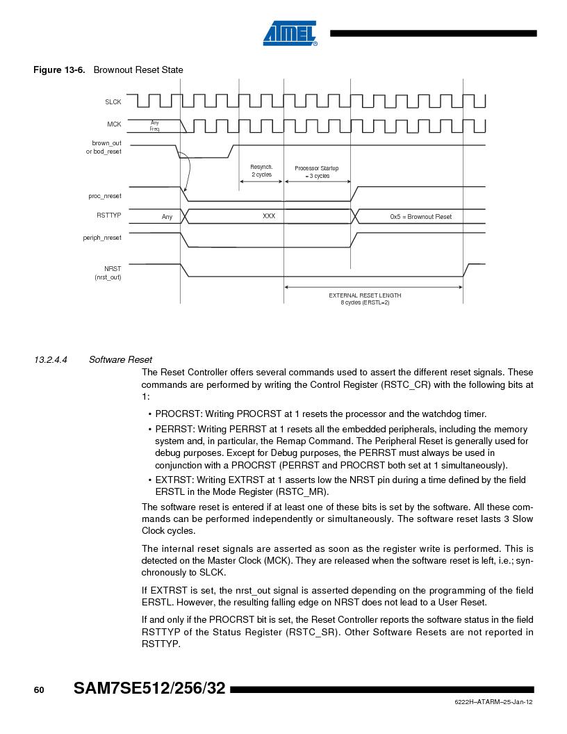 AT91SAM7SE256B-CUR ,Atmel厂商,IC ARM7 MCU FLASH 256K 128-LQFP, AT91SAM7SE256B-CUR datasheet预览  第60页