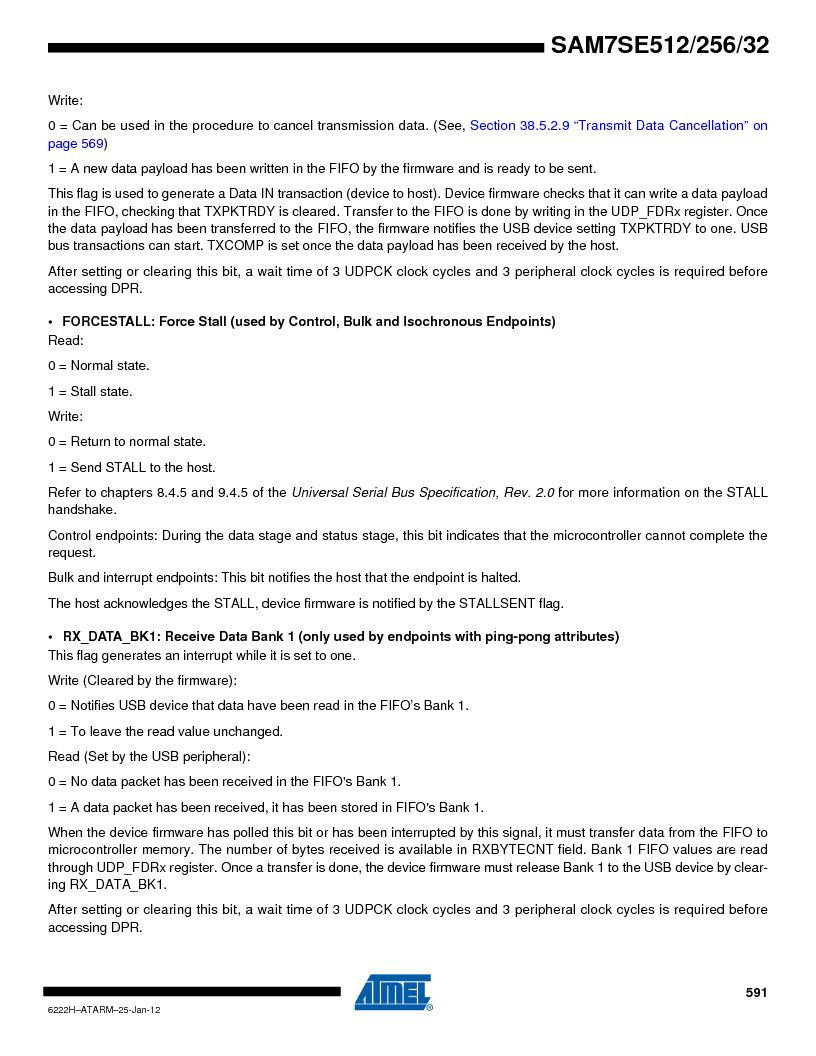 AT91SAM7SE256B-CUR ,Atmel厂商,IC ARM7 MCU FLASH 256K 128-LQFP, AT91SAM7SE256B-CUR datasheet预览  第591页