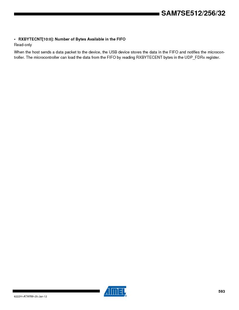 AT91SAM7SE256B-CUR ,Atmel厂商,IC ARM7 MCU FLASH 256K 128-LQFP, AT91SAM7SE256B-CUR datasheet预览  第593页