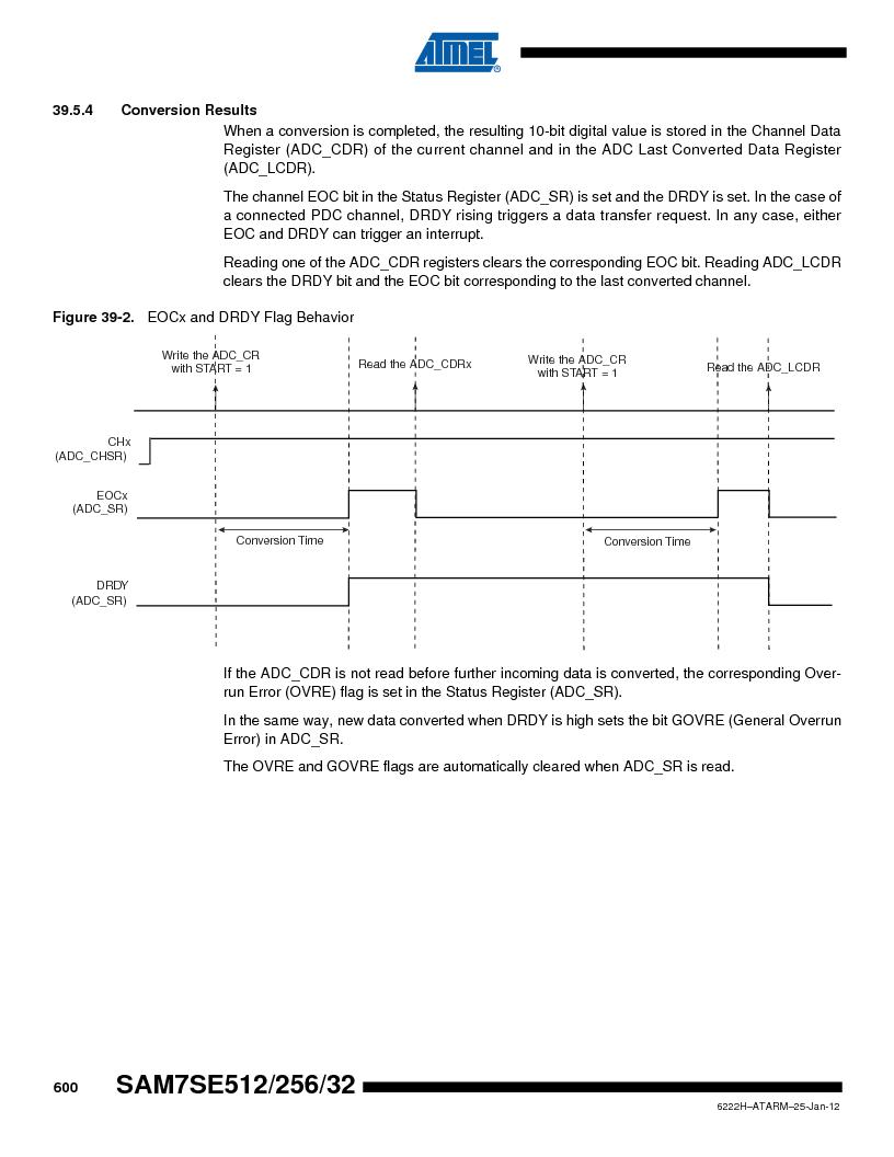 AT91SAM7SE256B-CUR ,Atmel厂商,IC ARM7 MCU FLASH 256K 128-LQFP, AT91SAM7SE256B-CUR datasheet预览  第600页