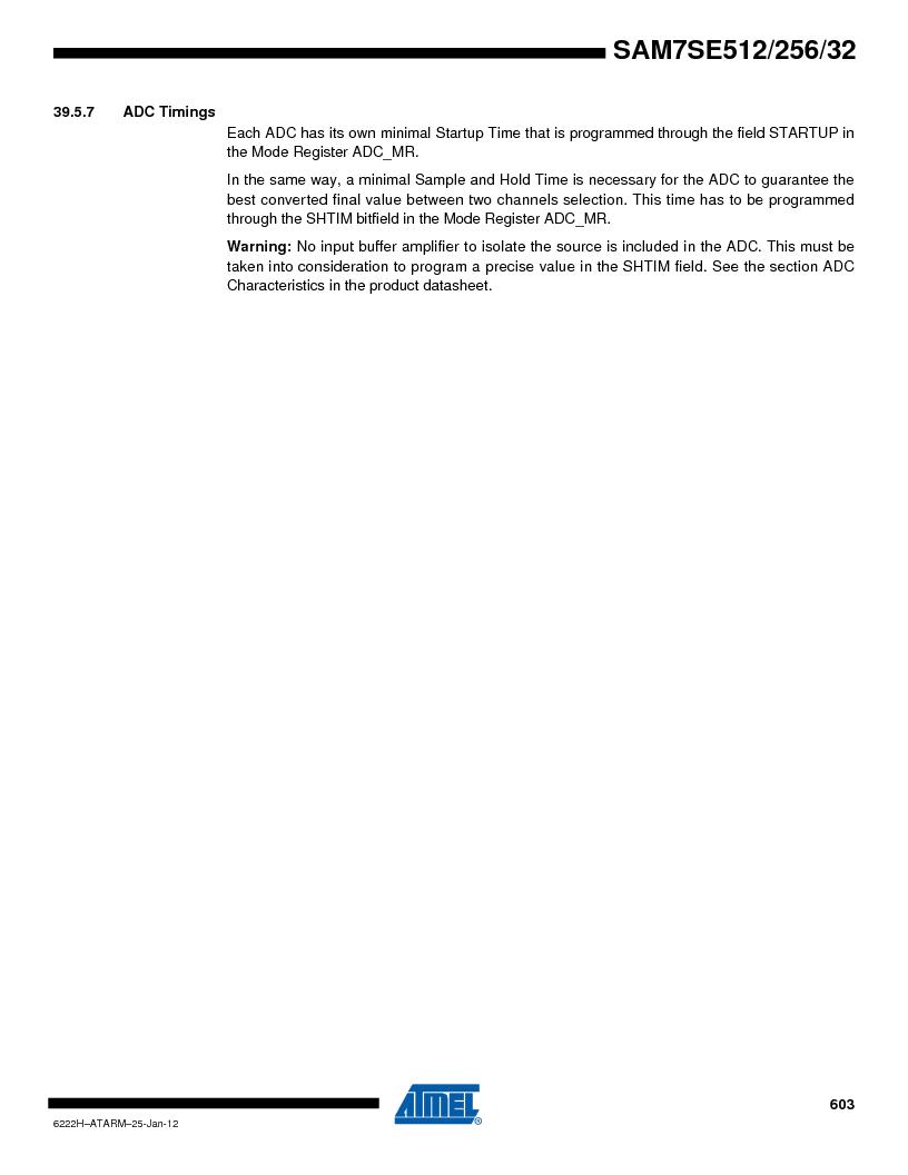AT91SAM7SE256B-CUR ,Atmel厂商,IC ARM7 MCU FLASH 256K 128-LQFP, AT91SAM7SE256B-CUR datasheet预览  第603页