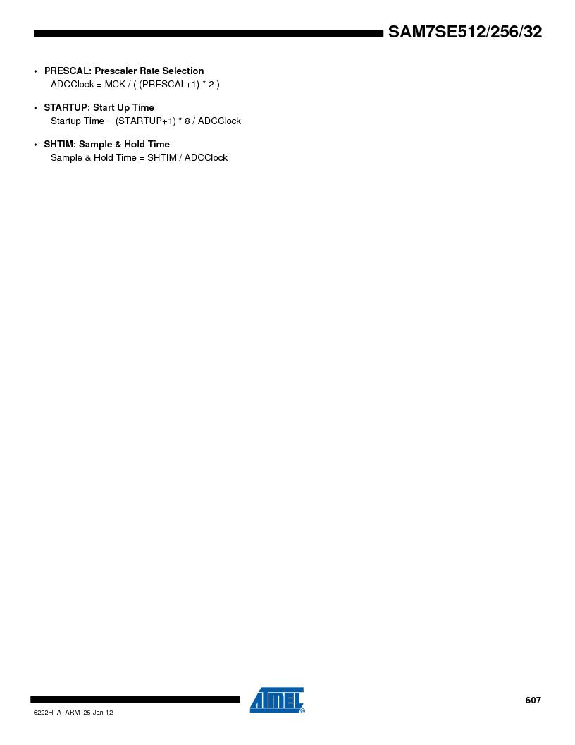 AT91SAM7SE256B-CUR ,Atmel厂商,IC ARM7 MCU FLASH 256K 128-LQFP, AT91SAM7SE256B-CUR datasheet预览  第607页