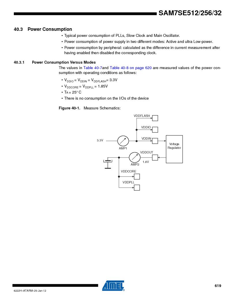 AT91SAM7SE256B-CUR ,Atmel厂商,IC ARM7 MCU FLASH 256K 128-LQFP, AT91SAM7SE256B-CUR datasheet预览  第619页