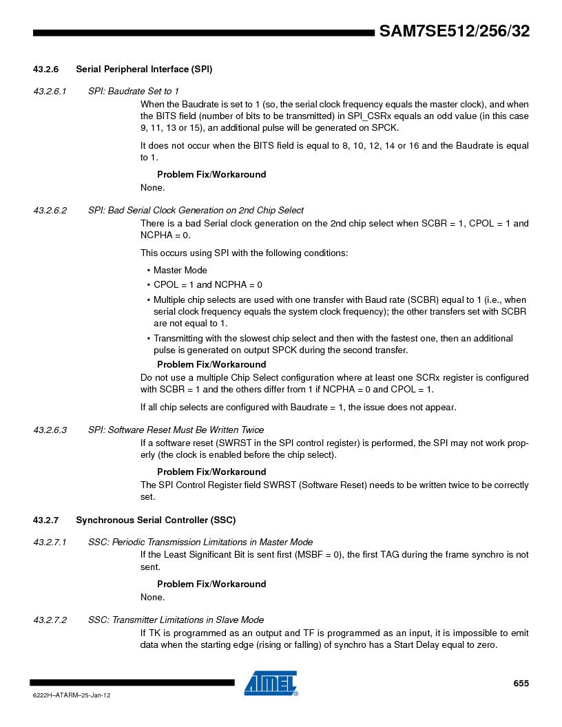 AT91SAM7SE256B-CUR ,Atmel厂商,IC ARM7 MCU FLASH 256K 128-LQFP, AT91SAM7SE256B-CUR datasheet预览  第655页