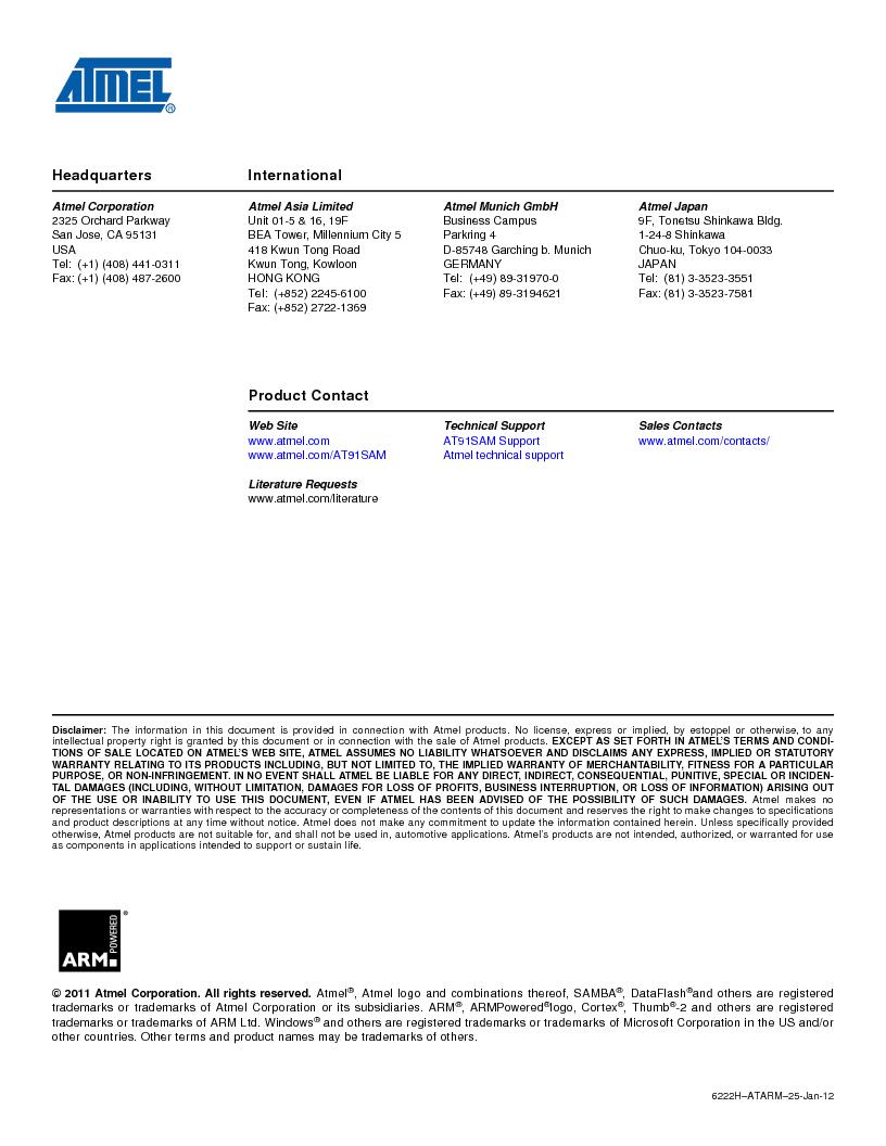 AT91SAM7SE256B-CUR ,Atmel厂商,IC ARM7 MCU FLASH 256K 128-LQFP, AT91SAM7SE256B-CUR datasheet预览  第681页