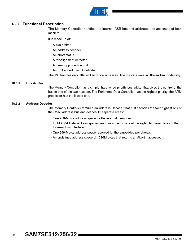 AT91SAM7SE256B-CUR ,Atmel厂商,IC ARM7 MCU FLASH 256K 128-LQFP, AT91SAM7SE256B-CUR datasheet预览  第88页