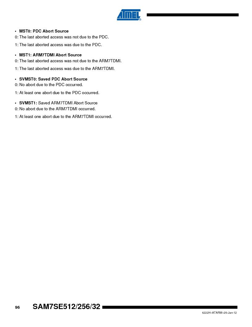 AT91SAM7SE256B-CUR ,Atmel厂商,IC ARM7 MCU FLASH 256K 128-LQFP, AT91SAM7SE256B-CUR datasheet预览  第96页