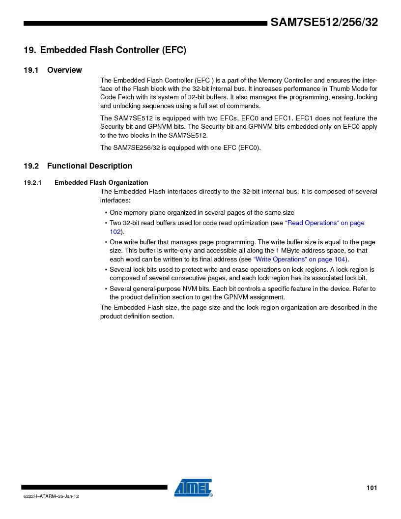 AT91SAM7SE512B-CUR ,Atmel厂商,IC ARM7 MUC FLASH 512K 144-LFBGA, AT91SAM7SE512B-CUR datasheet预览  第101页