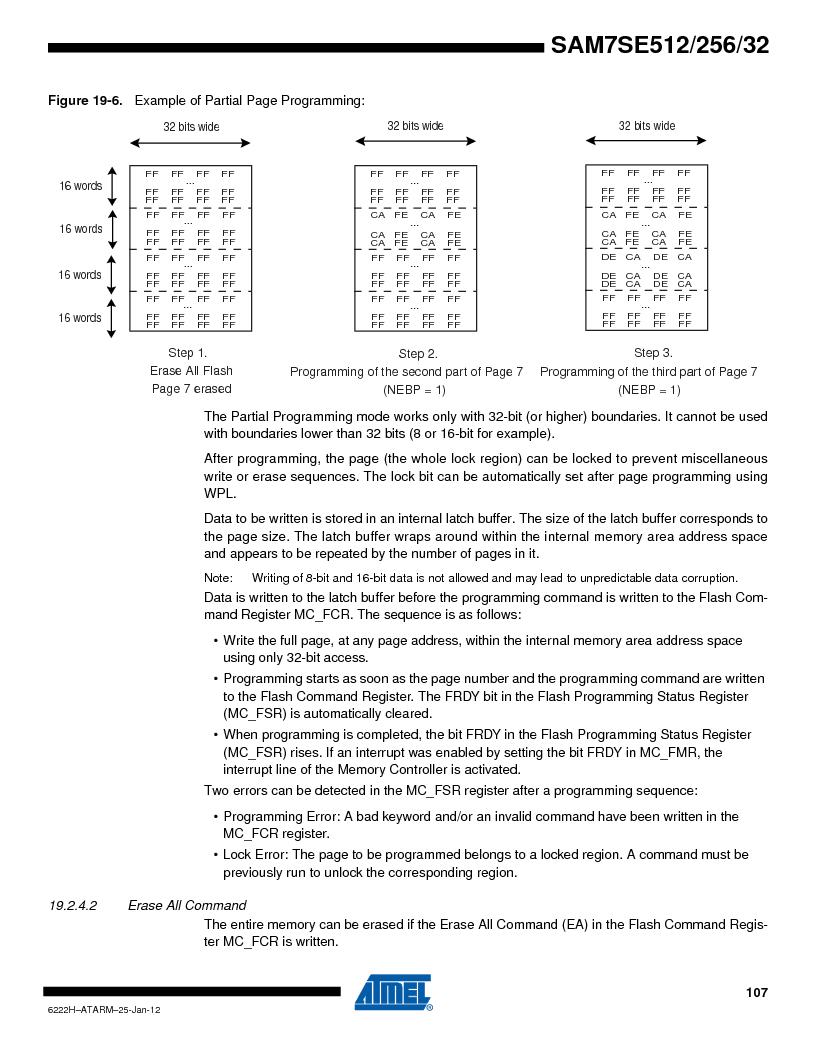 AT91SAM7SE512B-CUR ,Atmel厂商,IC ARM7 MUC FLASH 512K 144-LFBGA, AT91SAM7SE512B-CUR datasheet预览  第107页