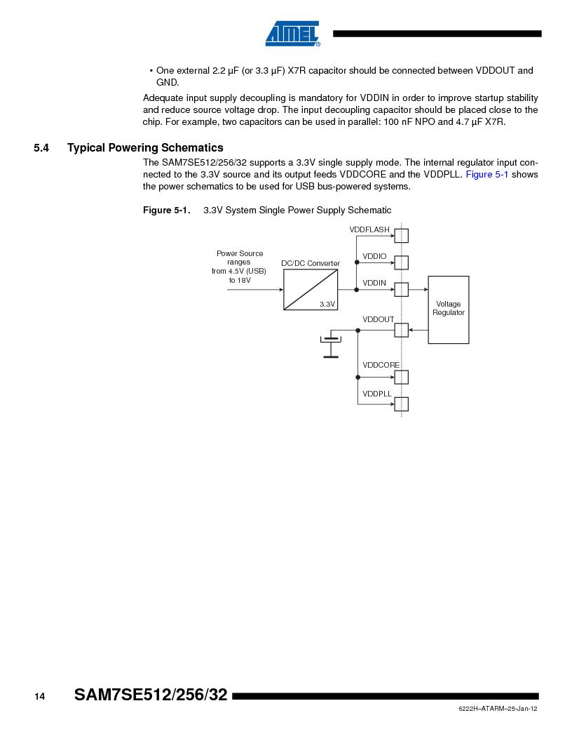 AT91SAM7SE512B-CUR ,Atmel厂商,IC ARM7 MUC FLASH 512K 144-LFBGA, AT91SAM7SE512B-CUR datasheet预览  第14页