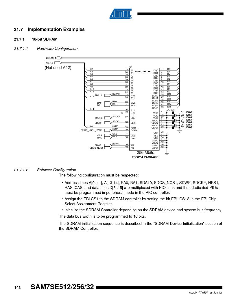 AT91SAM7SE512B-CUR ,Atmel厂商,IC ARM7 MUC FLASH 512K 144-LFBGA, AT91SAM7SE512B-CUR datasheet预览  第148页