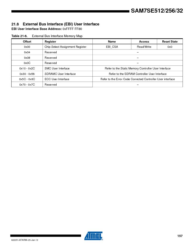 AT91SAM7SE512B-CUR ,Atmel厂商,IC ARM7 MUC FLASH 512K 144-LFBGA, AT91SAM7SE512B-CUR datasheet预览  第157页