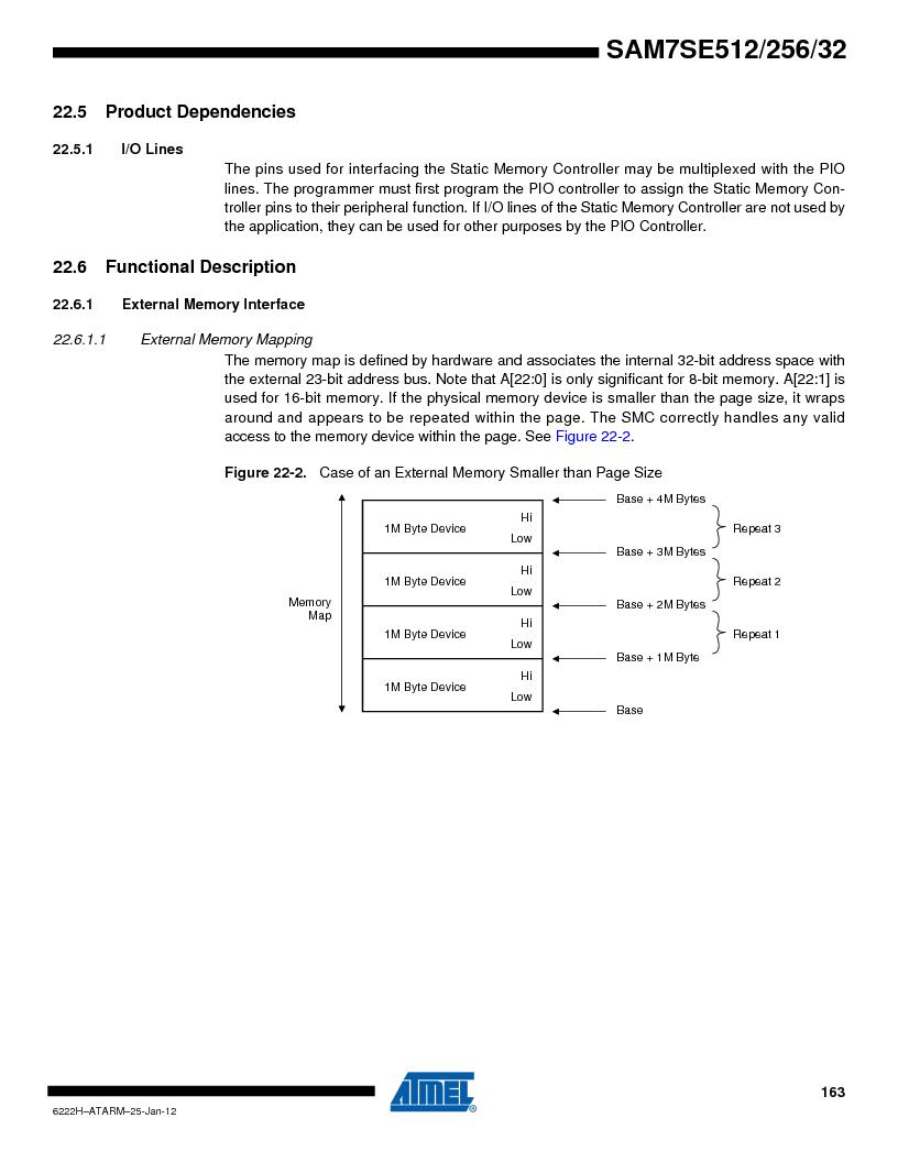 AT91SAM7SE512B-CUR ,Atmel厂商,IC ARM7 MUC FLASH 512K 144-LFBGA, AT91SAM7SE512B-CUR datasheet预览  第163页